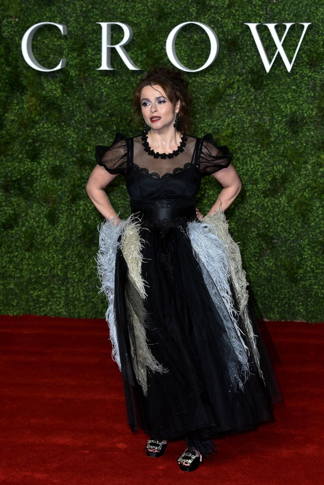 Helena Bonham Carter à l'avant-première de la troisième saison de la série The Crown à Londres, le 13 novembre 2019