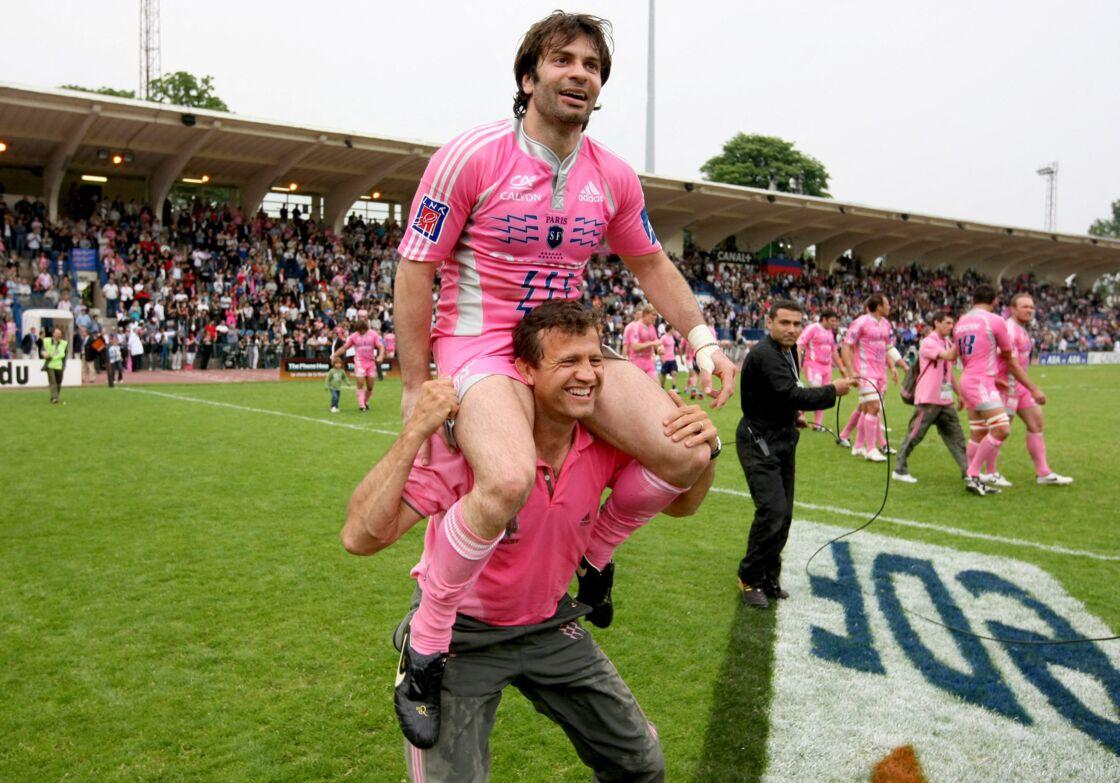 Christophe Dominici en pleine célébration.