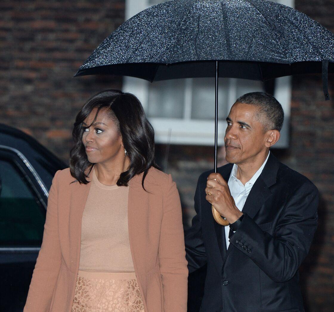Le prince William et Kate Middleton reçoivent Barack Obama et sa femme pour un dîner privé dans leur résidence de Kensington à Londres le 22 Avril 2016.