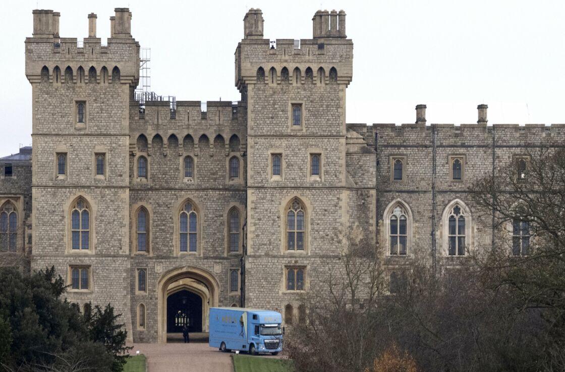 Un camion de déménagement Abels a été aperçu devant le château de Windsor, situé à proximité immédiate de Frogmore