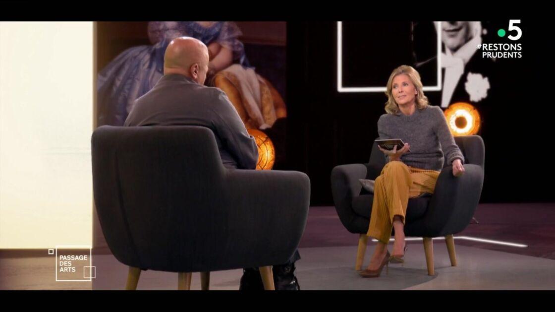 Claire Chazal face à Thierry Marx, sur le plateau de