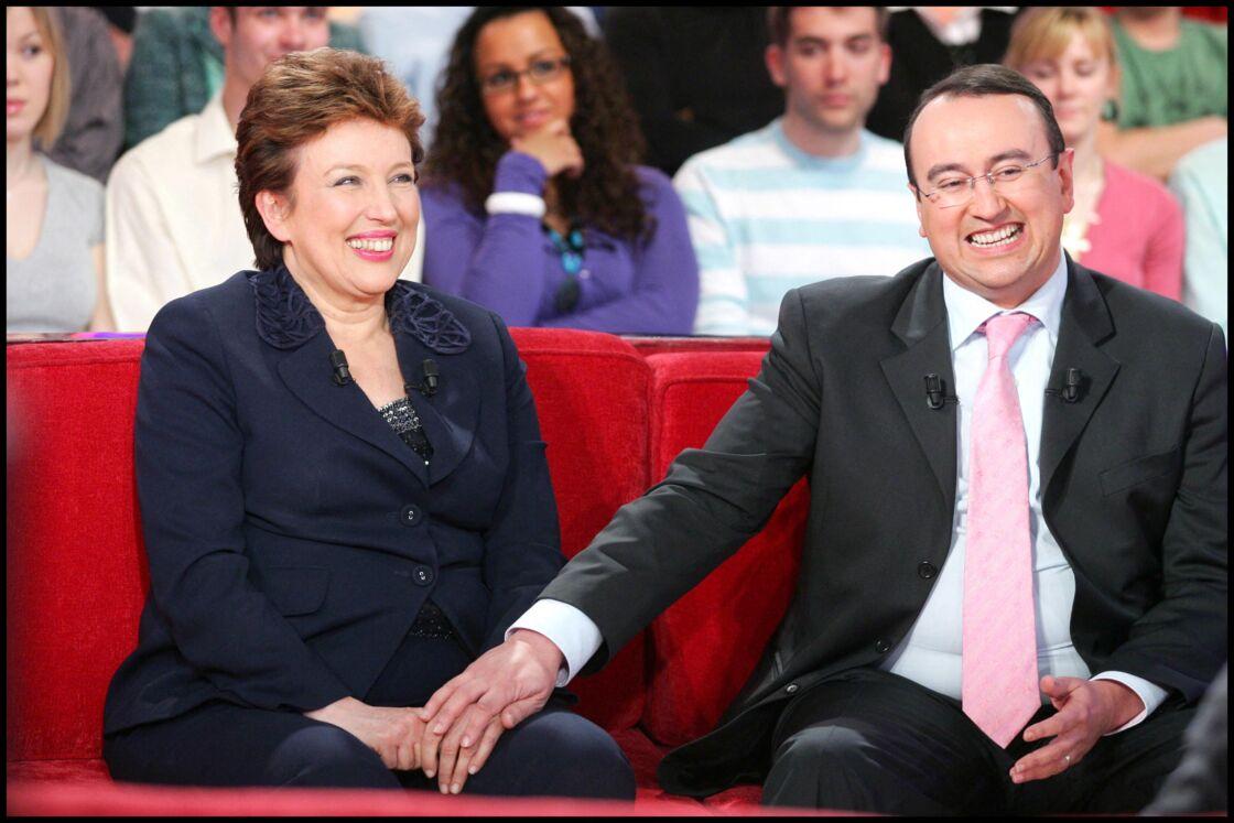 Roselyne Bachelot aux côtés de son fils Pierre en 2008