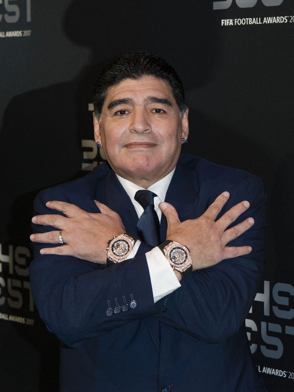 Diego Maradona avait de nombreuses montres de luxe.