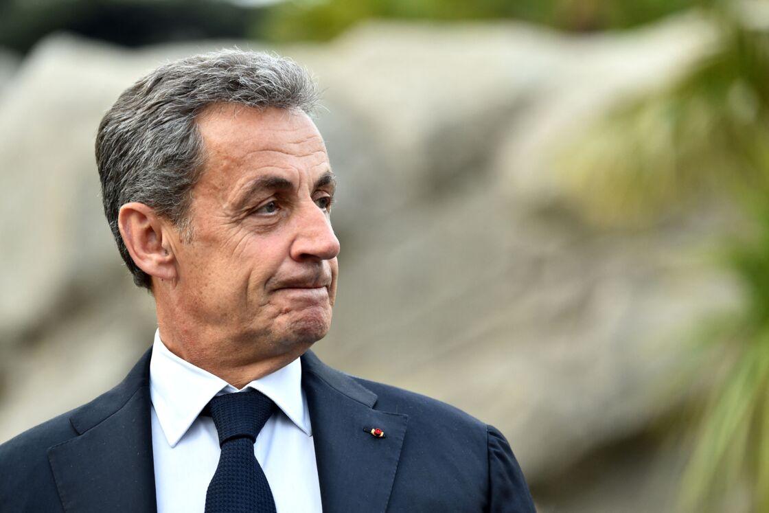 - Nicolas Sarkozy, l'ancien président de la République, durant l'inauguration du Parc du Ray à Nice le 13 janvier 2020.