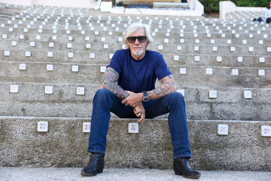 Pierre Billon - Concert hommage a Johnny Hallyday avec ses anciens musiciens au théâtre de verdure a Ramatuelle en 2018