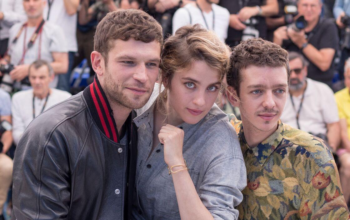 Arnaud Valois, Adèle Haenel et Nahuel Pérez Biscayart - Photocall du film