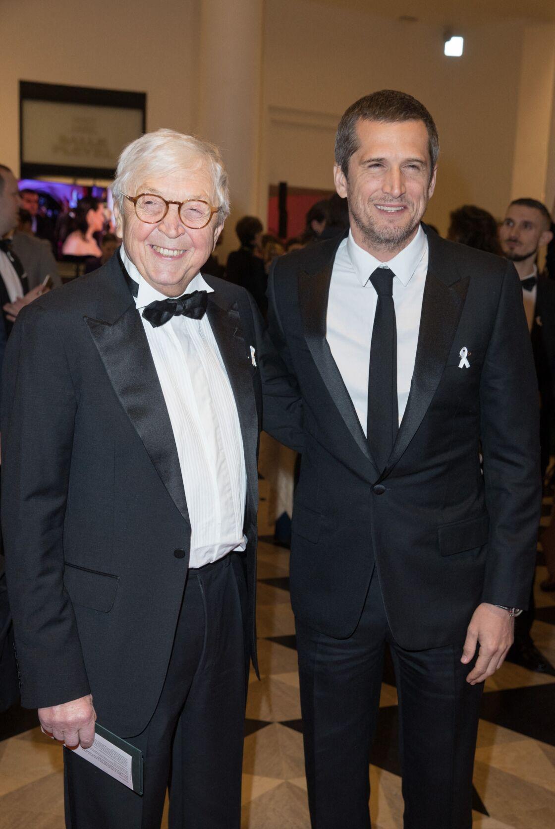 Guillaume Canet et son père Philippe à la 43ème cérémonie des Cesar à la salle Pleyel à Paris, le 2 mars 2018.