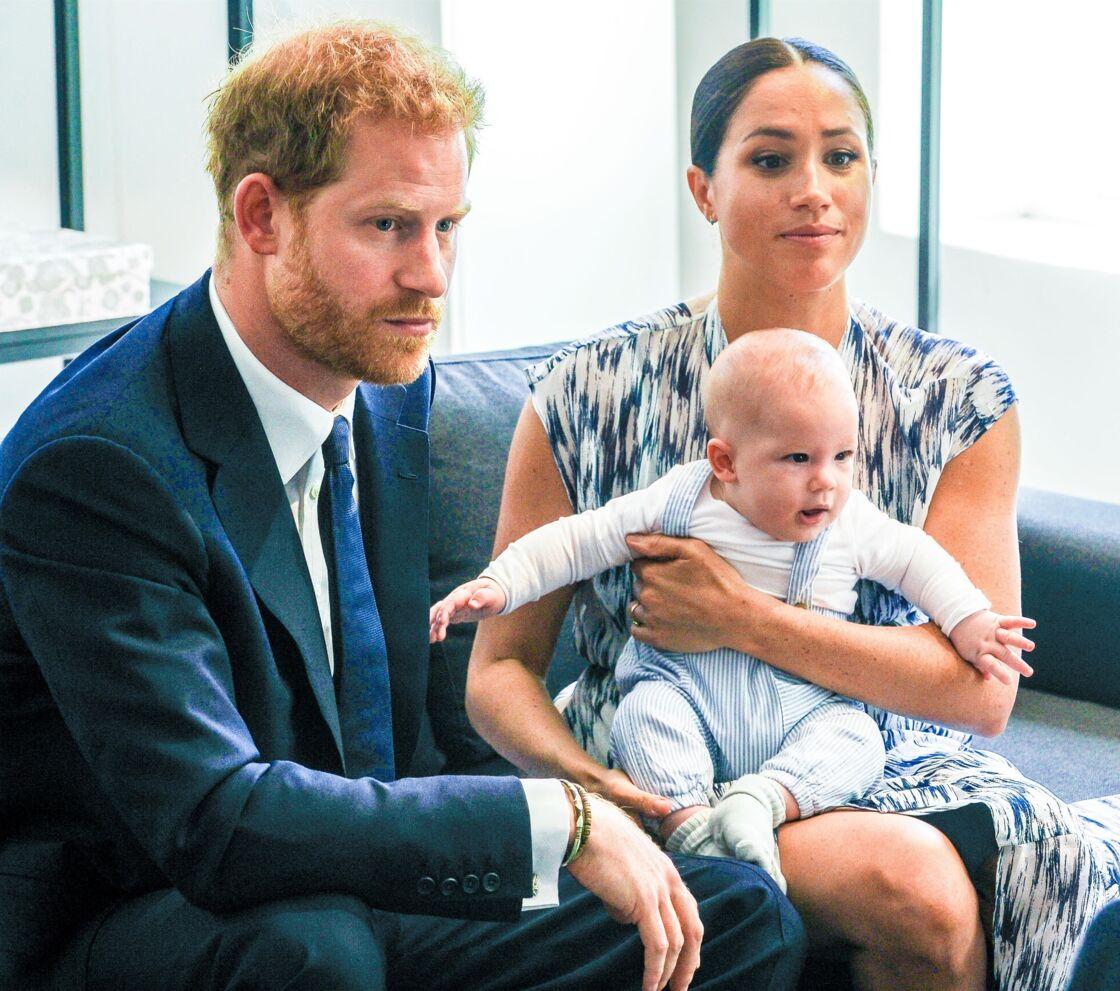Le prince Harry et Meghan Markle présentant leur fils Archie le 25 septembre 2019