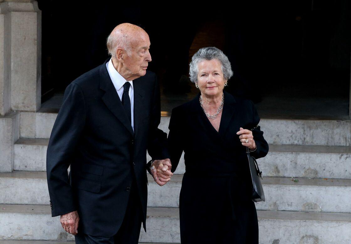 Valéry Giscard d'Estaing et sa femme Anne-Aymone, le 26 septembre 2017