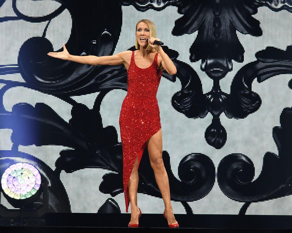 Céline Dion lors de la tournée mondiale Courage en janvier dernier à Miami