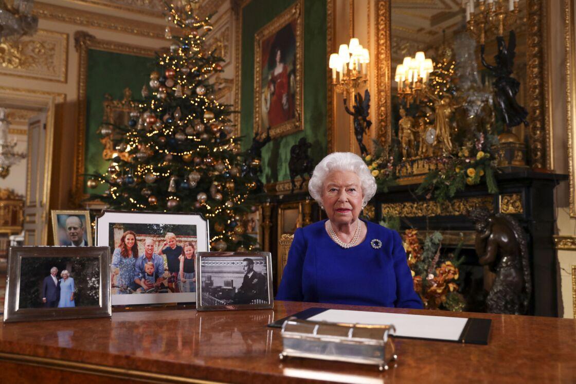 La reine Elizabeth II lors de son message de Noël le 24 décembre 2019