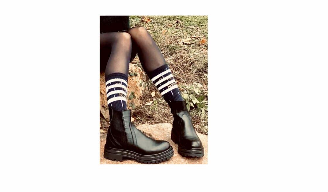 Allures rock avec les chaussettes de fabrication française éthique, éco-responsable et solidaire Toit est fabrication française, 18 € Marchillsocks