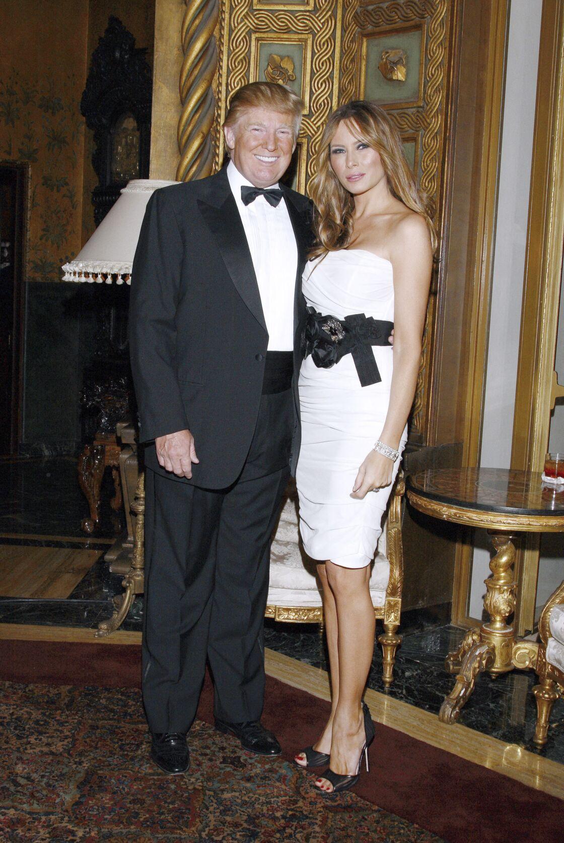 Le couple Trump dans leur propriété de Mar-a-Lago en Floride en 2010