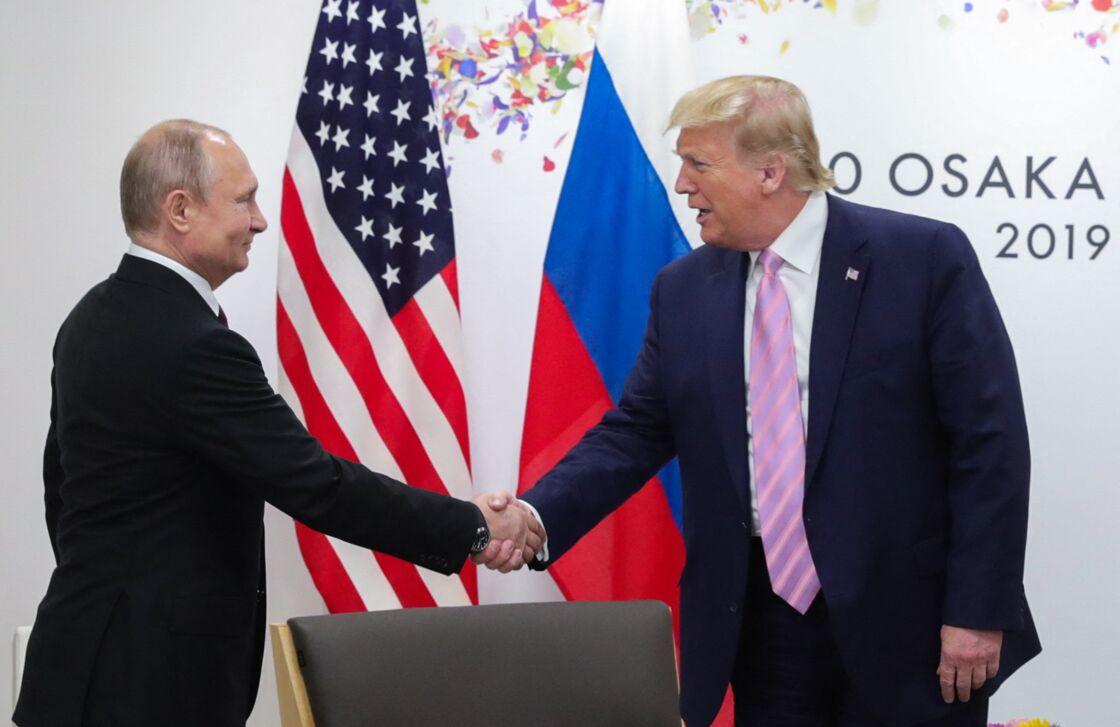 Vladimir Poutine et Donald Trump le 29 juin 2019