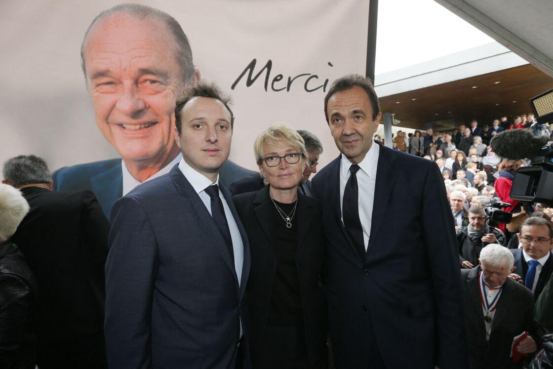 Martin Rey-Chirac avec Claude Chirac et son mari Frédéric Salat-Baroux au musée du président Jacques Chirac de Sarran en Corrèze le 5 octobre 2019