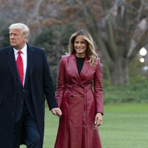 PHOTOS – Melania Trump: cuir et sourire ravageur pour une virée stylée avec son mari