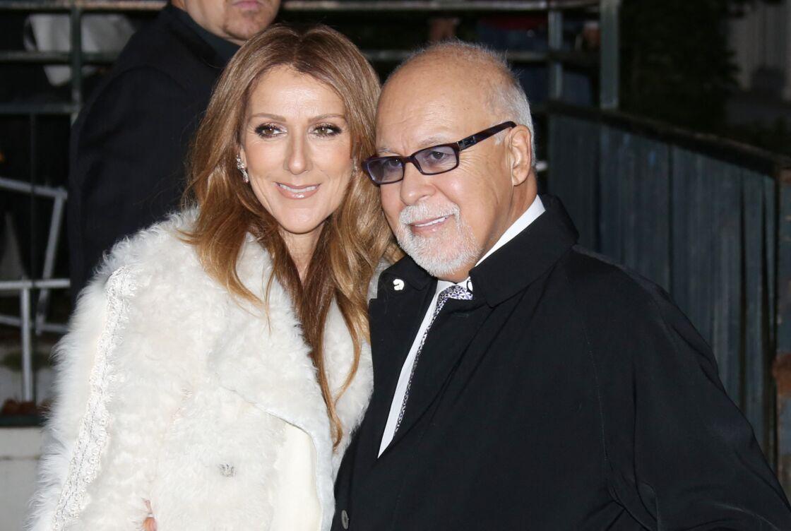 Céline Dion et René Angélil, à Paris, le 13 novembre 2013