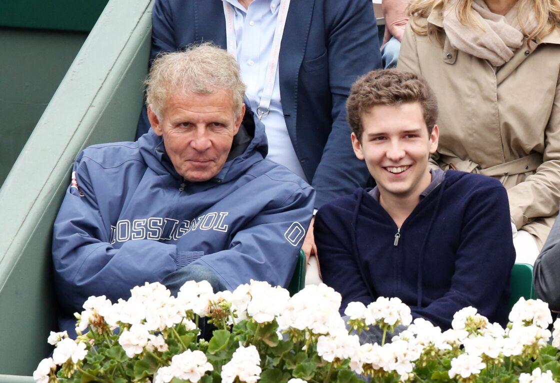 Patrick Poivre d'Arvor et son fils François en 2013