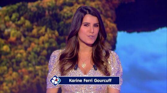 Karine Ferri sur le plateau de l'Euromillions ce vendredi 4 décembre