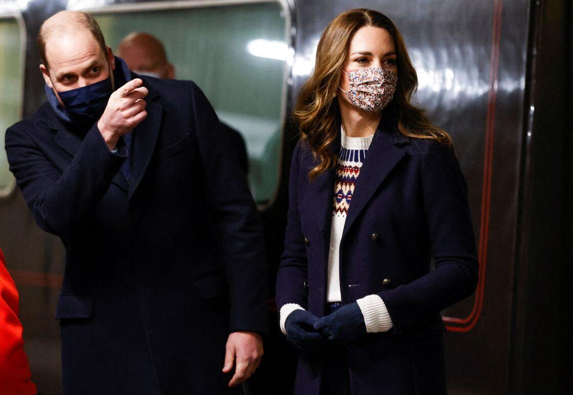 Kate et William à bord du Royal Train