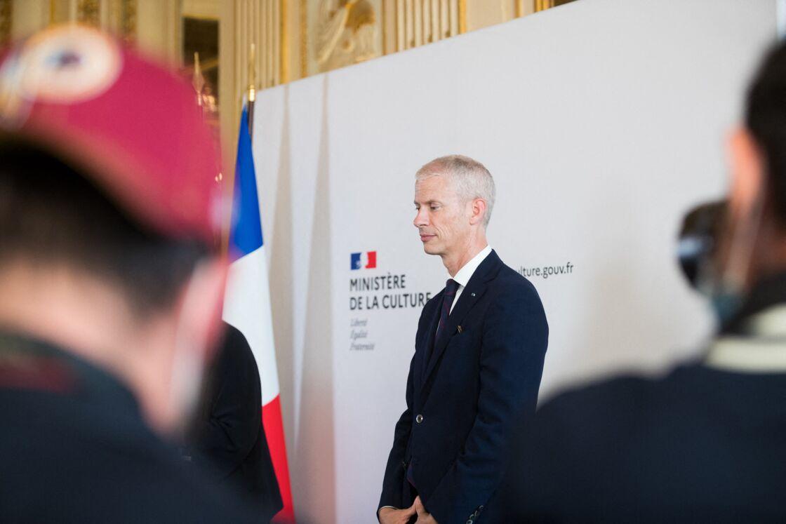Passation de pouvoirs entre Franck Riester et Roselyne Bachelot au Ministère de la Culture à Paris. Le 6 juillet 2020