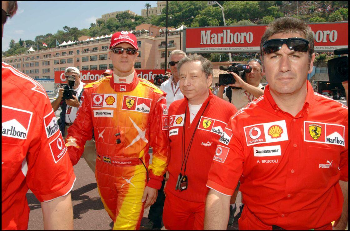 Michael Schumacher et Jean Todt au Grand prix de F1 de Monaco, en mai 2006