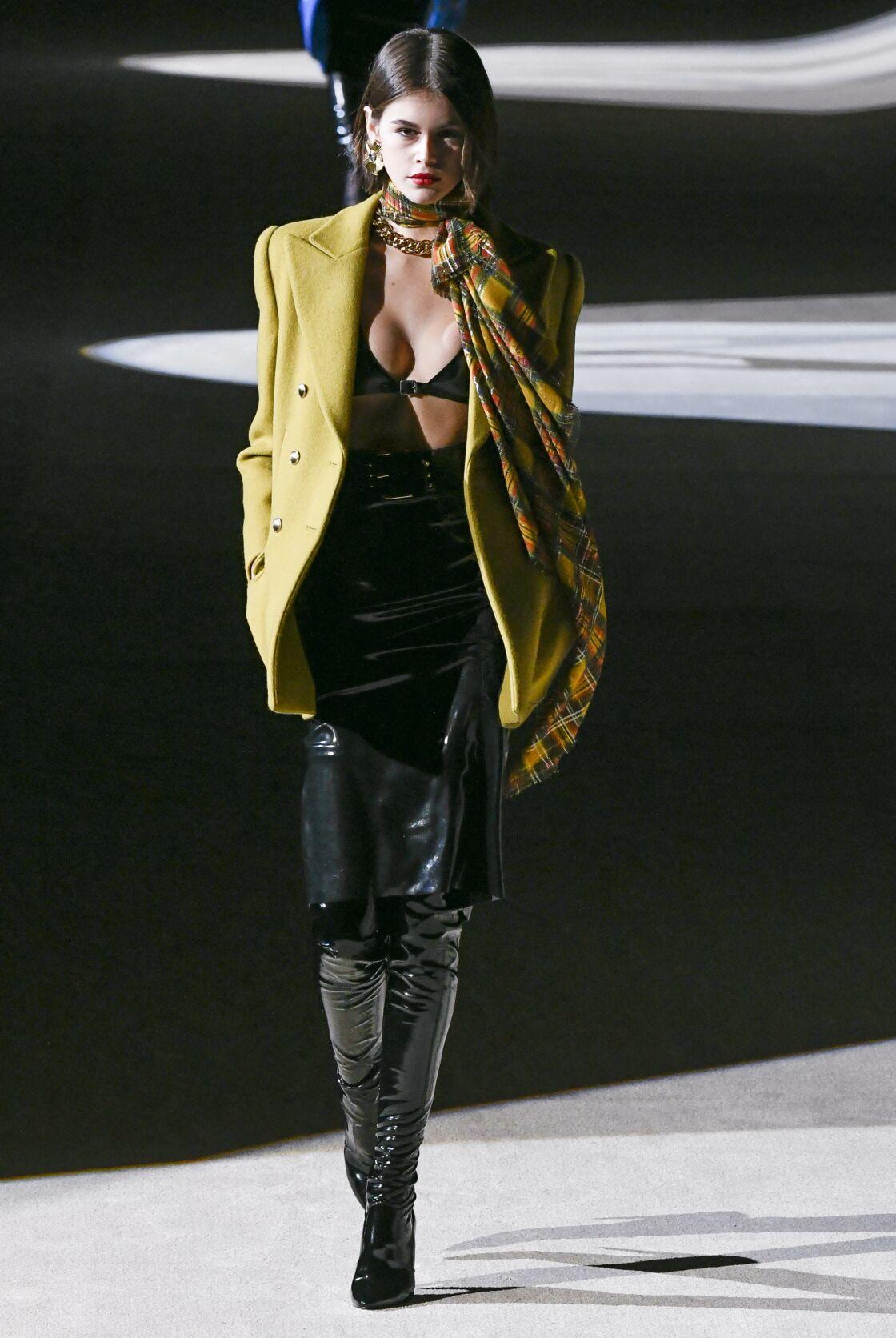 Kaia Gerber lors de la fashion week hiver 2020