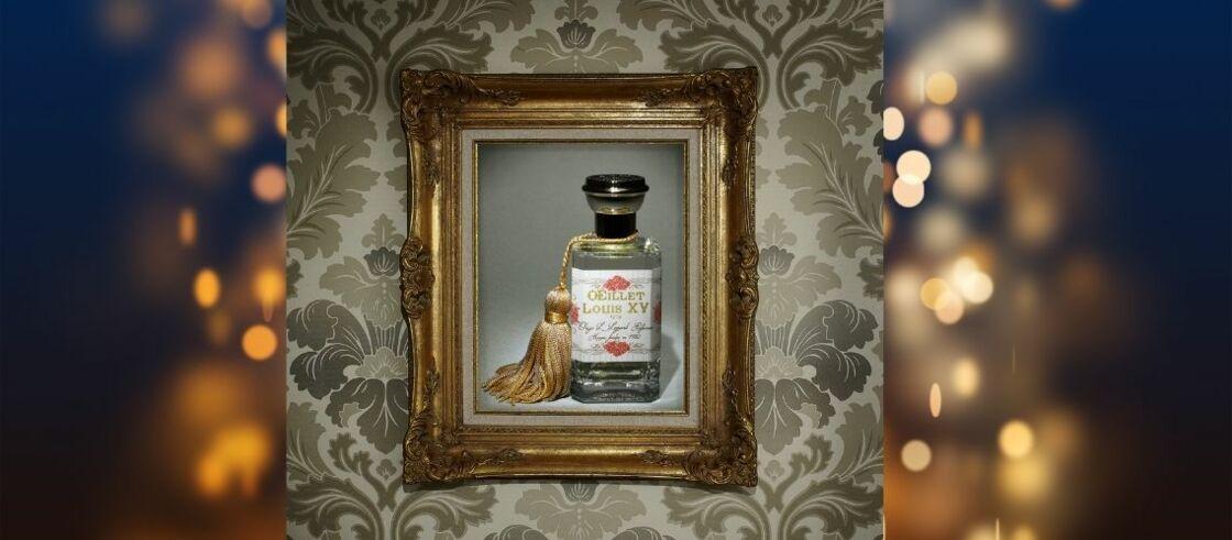 Eau de Parfum Oeillet Louis XV Oriza L.Legrand, Ambassade Excellence@Vertbois A gauche cadre Atelier Eugénie Seigneur, à droite cadres L' Art d'Encadrer ( www.artdencadrer.com). Papier peint Bonaparte - Pierre  Little Greene.fr