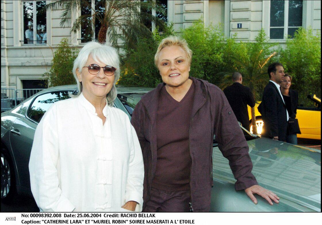 Catherine Lara et Muriel Robin le 25 juin 2004