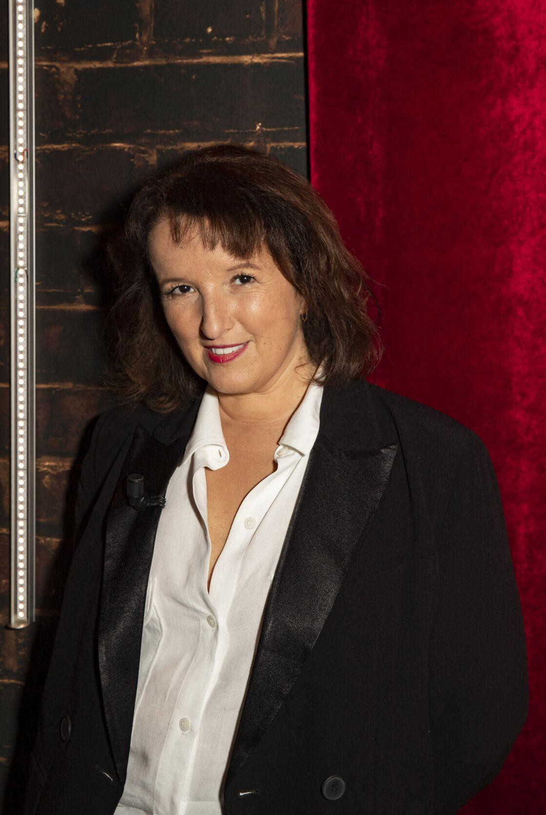 Anne Roumanoff dans les coulisses de l'émission On est presque en direct le 24 octobre 2020