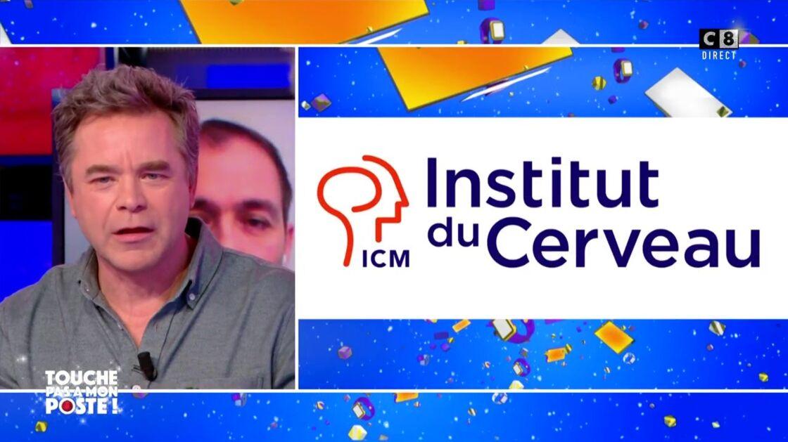 Guillaume de Tonquédec évoquant l'Institut du cerveau dans Touche pas à mon poste ! le 16 décembre 2020