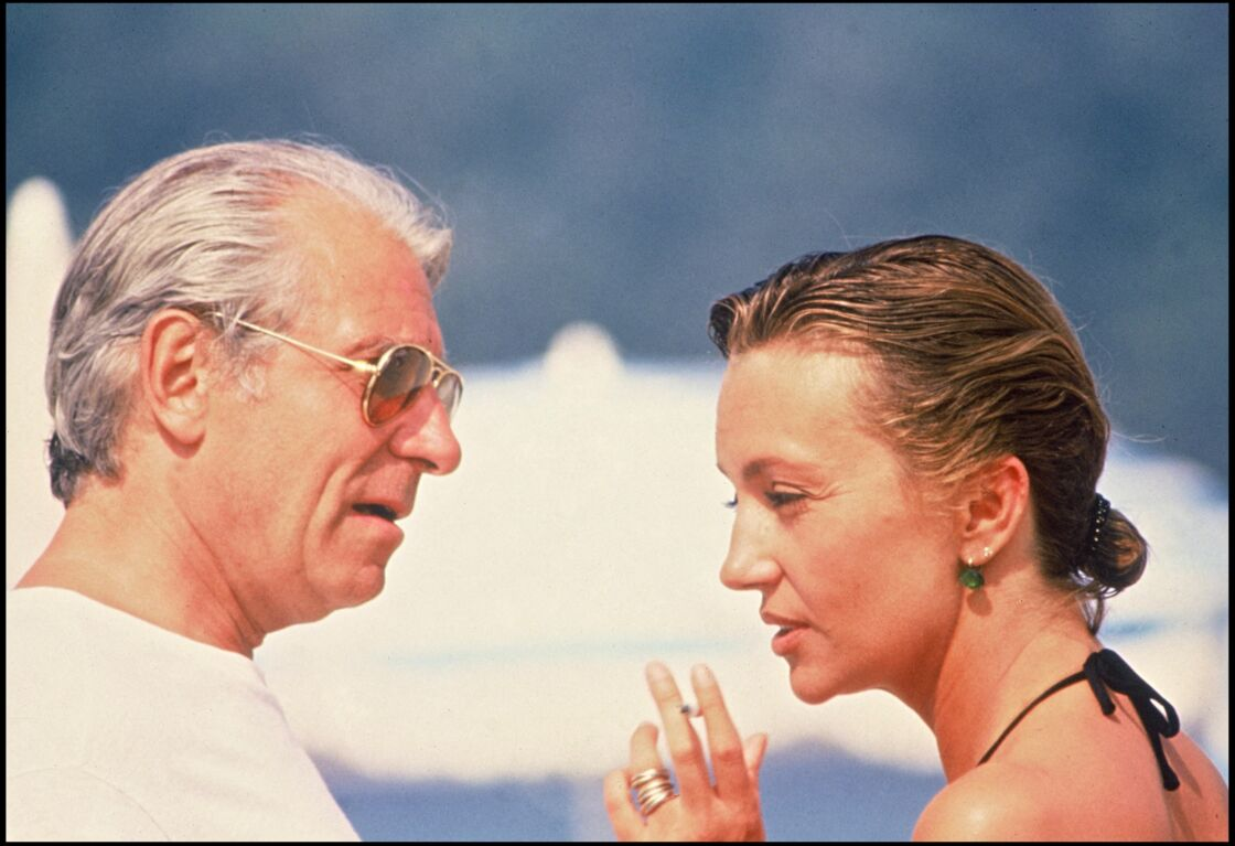Le couple sur le tournage du film L'année des méduses en 1984