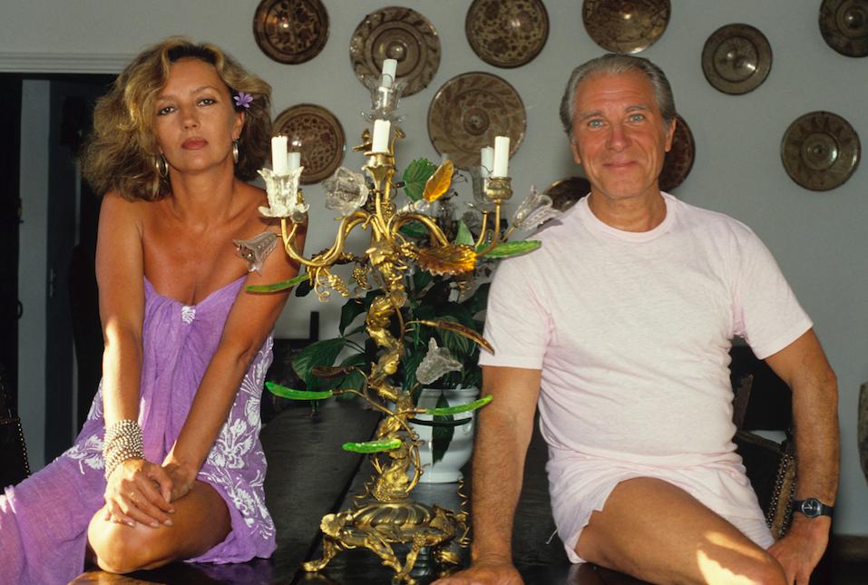 Jean Poiret et Caroline Cellier en vacances en 1985