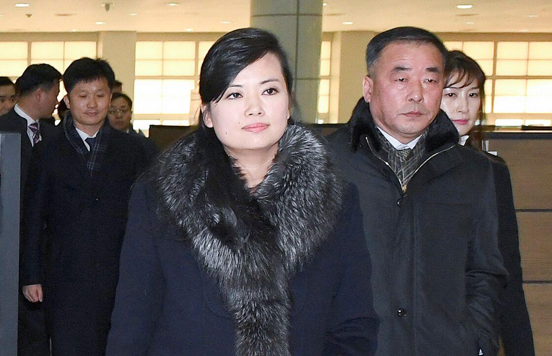 Hyon Song-Wol se rend à Séoul avec une délégation nord-coréenne, quelques semaines avant les Jeux olympiques d'hiver, le 21 janvier 2018.