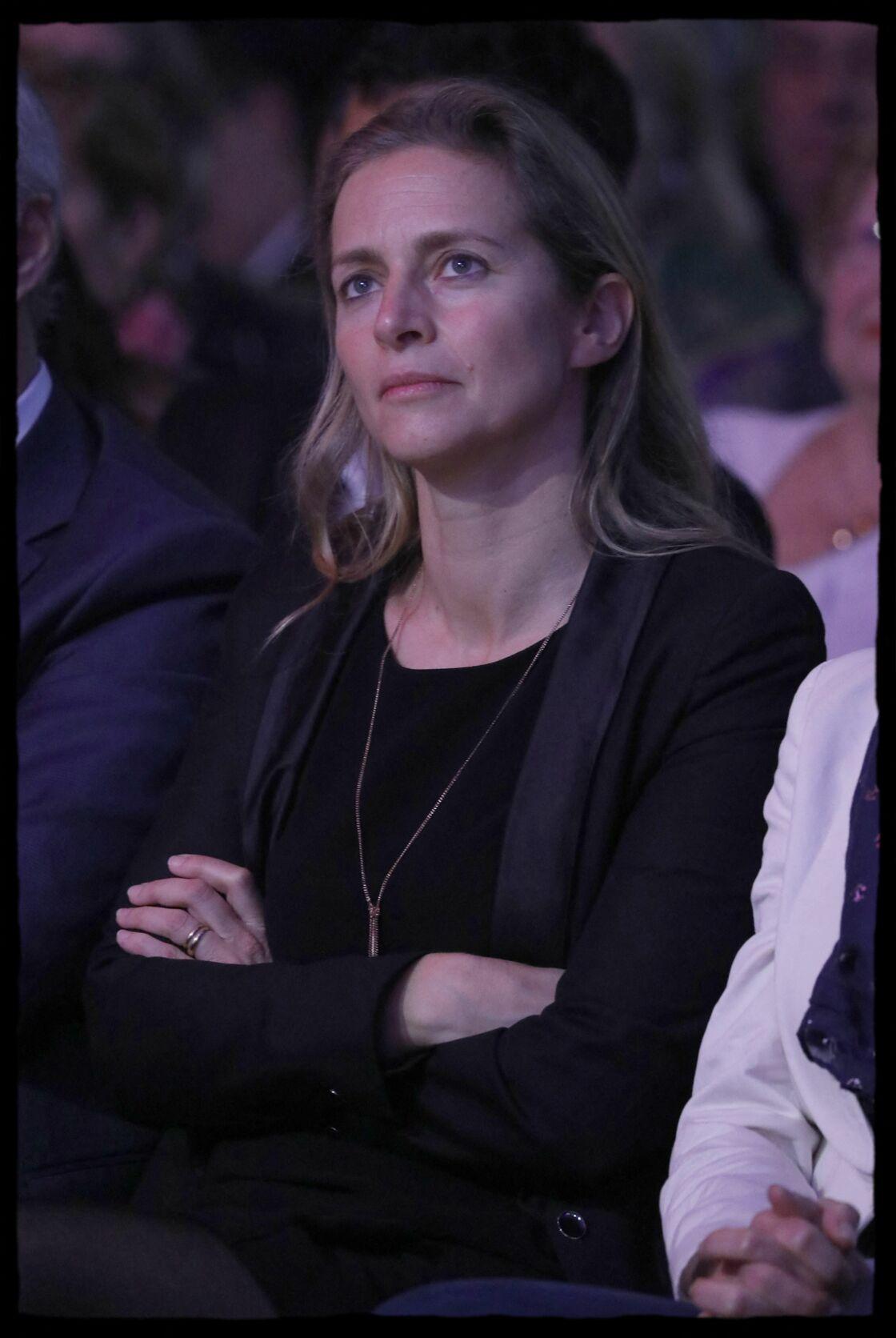 Charlotte Wauquiez lors d'un meeting de son mari, alors candidat à la présidence des Républicains, à Asnières-sur-Seine le 15 novembre 2017