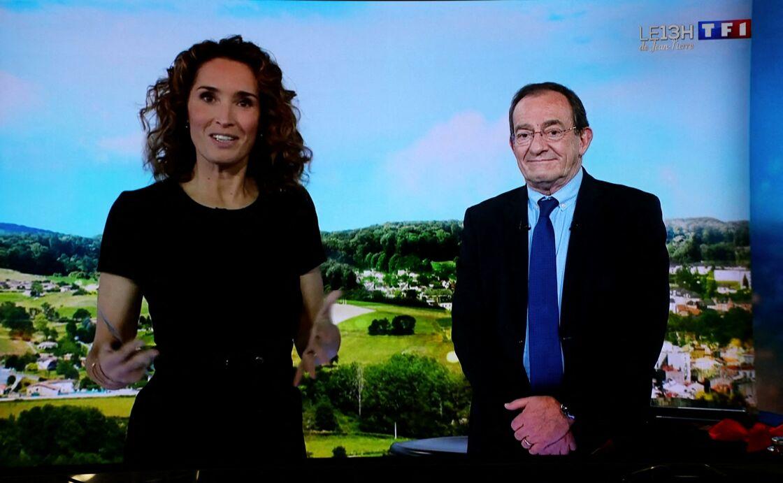 Marie-Sophie Lacarrau et Jean-Pierre Pernaut sur l'antenne de TF1, ce vendredi 18 décembre 2020