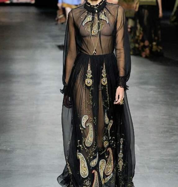 Le chignon tressé du défilé Dior Printemps-Eté 2021