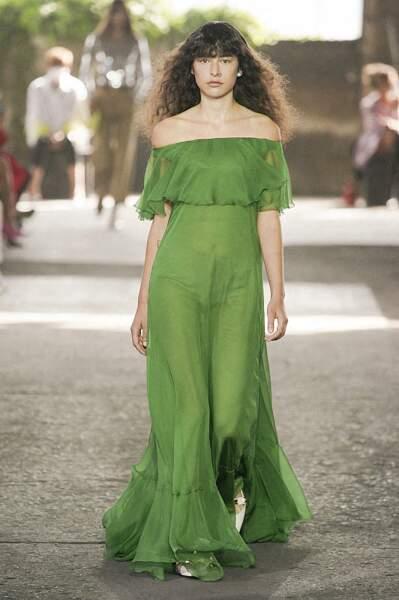 La frange rideau du défilé Valentino printemps-été 2021