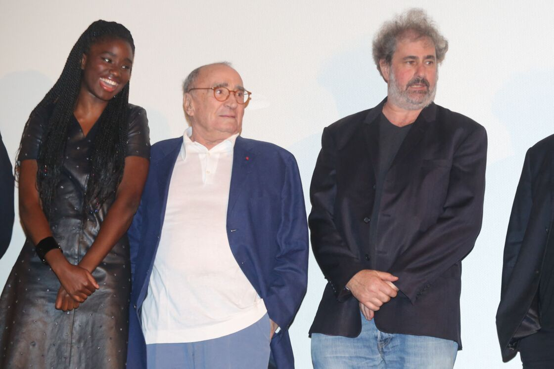 Karidja Touré, Claude Brasseur, Gustave Kervern lors de la cérémonie d'ouverture du 6ème