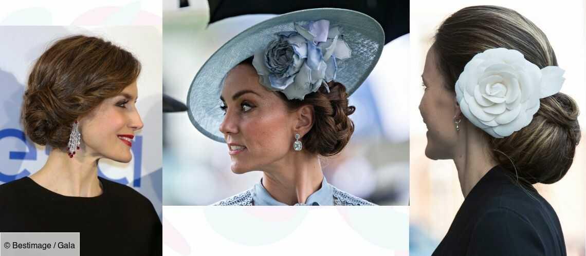 Photos Coiffure De Fete Un Chignon Tresse Comme Kate Middleton Et Letizia D Espagne Gala