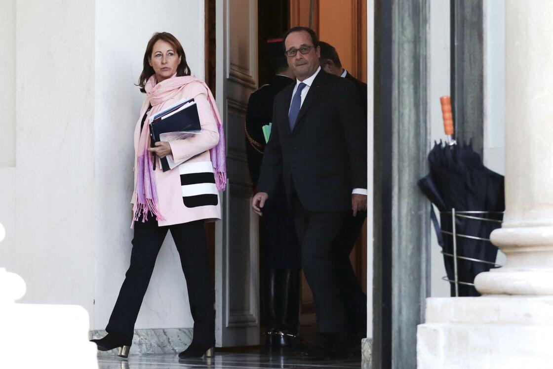 Ségolène Royal et François Hollande à l'Élysée le 14 décembre 2016