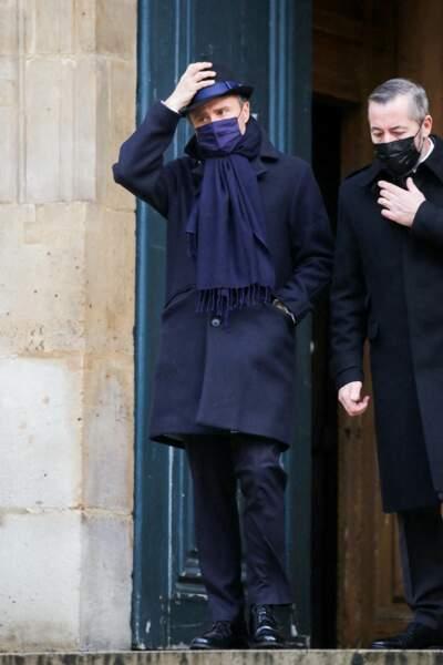 Alexandre Brasseur aux obsèques de son père, le comédien Claude Brasseur, le 29 décembre 2020