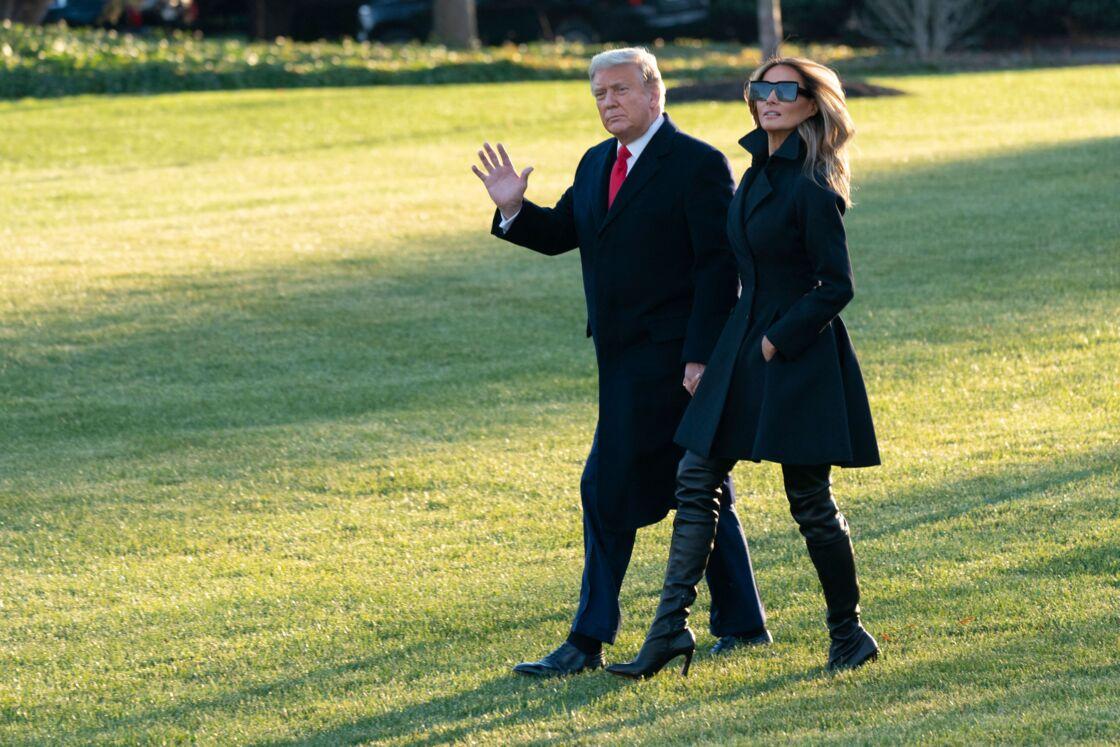 Donald et Melania Trump en route pour les fêtes de fin d'année