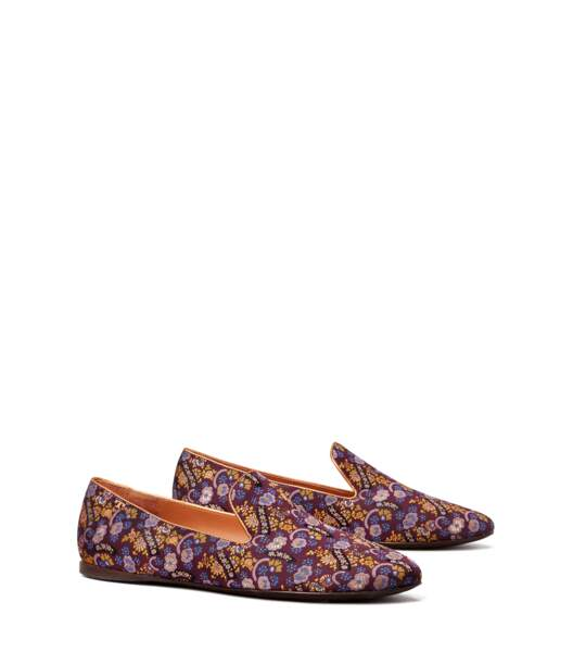Mocassins de smoking en jacquard, Tory Burch, 330 €