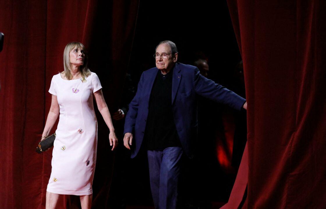 Robert Hossein et sa femme Candice Patou - Cérémonie d'Ouverture de la 10ème édition du Festival Lumière à Lyon le 13 octobre 2018