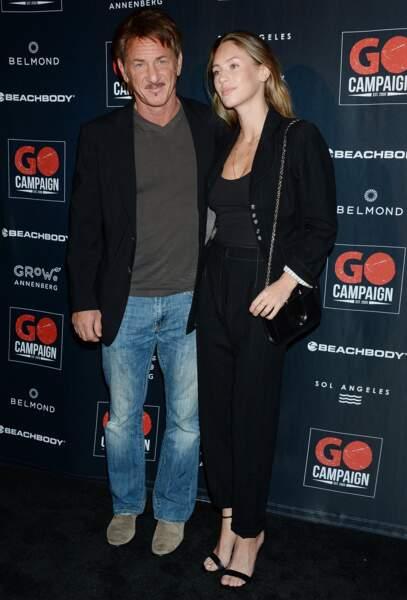 Sean Penn et sa fille Dylan Penn posent à Los Angeles le 20 octobre 2018.