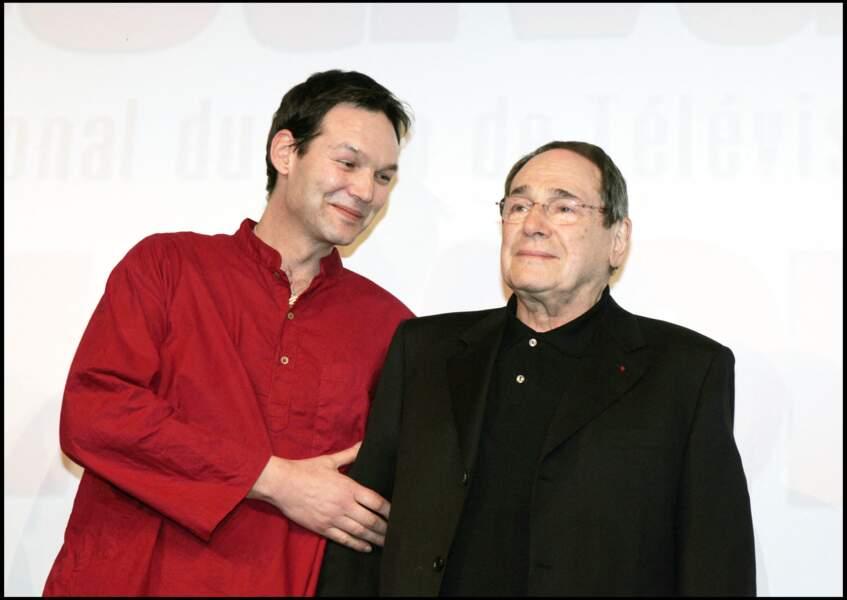 Pierre Hossein et son père, Robert Hossein