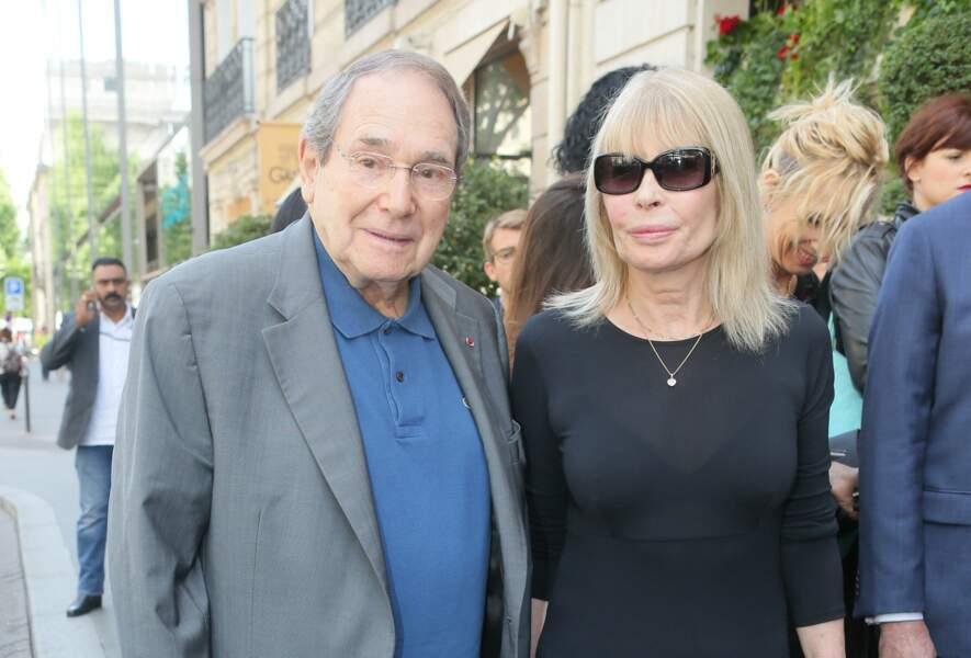 Robert Hossein et Candice Patou à Paris en 2016