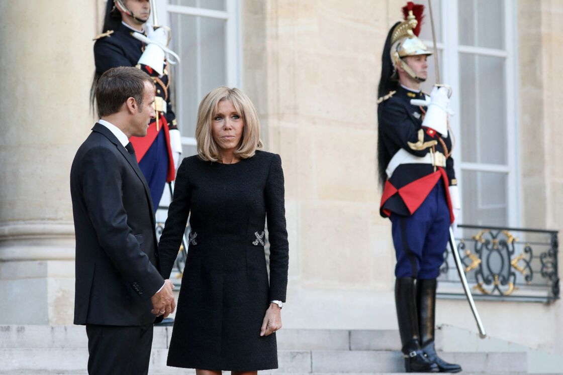 Emmanuel et Brigitte Macron à l'Élysée le 30 septembre 2019