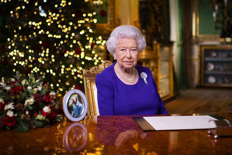 La reine Elizabeth II lors de ses voeux de Noël le 25 décembre 2020